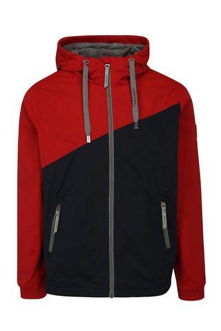 Jacheta barbateasca albastru-rosu cu gluga Ragwear Nugget