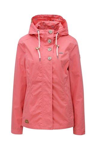 Jacheta de dama roz cu gluga Ragwear Lynx