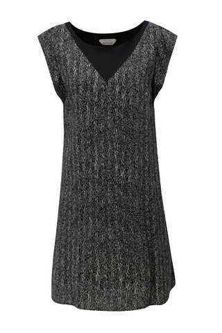 Rochie gri-negru lejera cu model Skunkfunk Geretz