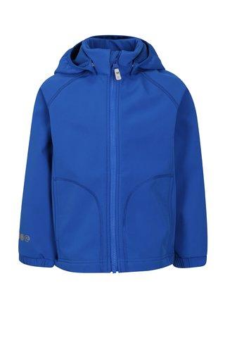 Modrá klučičí softshellová voděodolná bunda s kapucí Reima Vantti