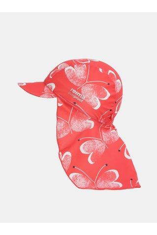 Červená holčičí vzorovaná čepice proti slunci Reima Octopus