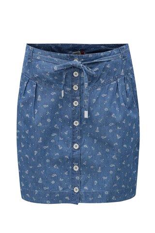 Fusta albastra cu print Ragwear Nina