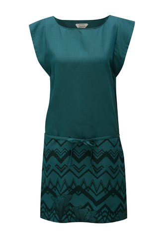 Rochie verde inchis cu print Skunkfunk Tilde