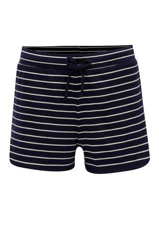 Pantaloni scurti albastru inchis in dungi Dorothy Perkins