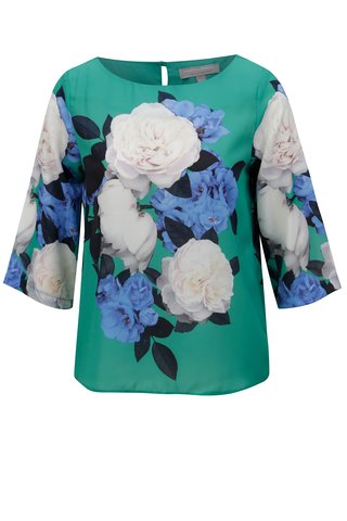 Bluza verde cu model floral Dorothy Perkins Petite