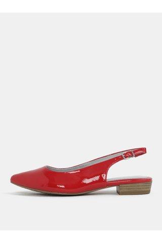 Sandale rosii cu aspect lucios si varf acoperit Tamaris