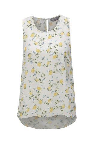 Bluza alba cu model floral Dorothy Perkins Petite