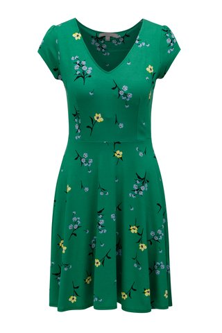 Rochie verde cu model floral Dorothy Perkins Petite