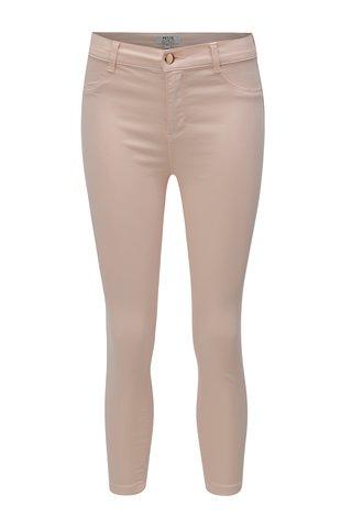 Blugi roz deschis slim crop din denim Dorothy Perkins Petite