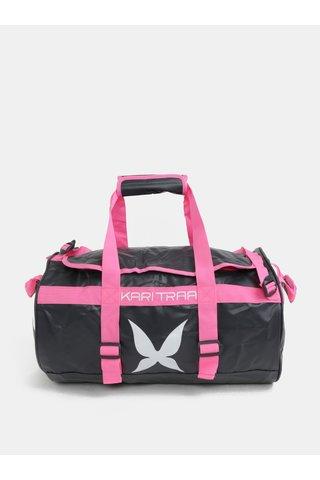 Geanta sport gri-roz cu model Kari Traa Kari