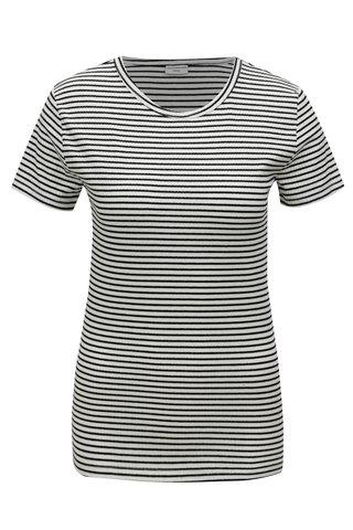 Tricou negru-alb in dungi Jacqueline de Yong Christine