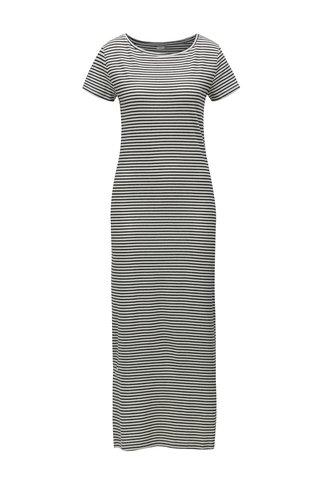 Rochie maxi negru-alb in dungi Jacqueline de Yong Christine