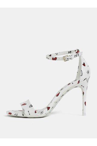 Bílé vzorované sandálky ALDO Cally