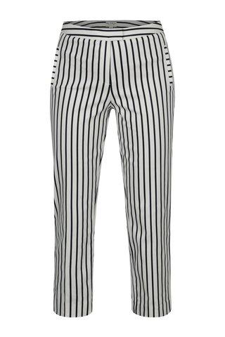 Pantaloni conici crop albastru-alb in dungi cu talie inalta Miss Selfridge