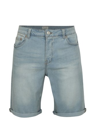 Pantaloni scurti albastru deschis din denim ONLY & SONS Sune