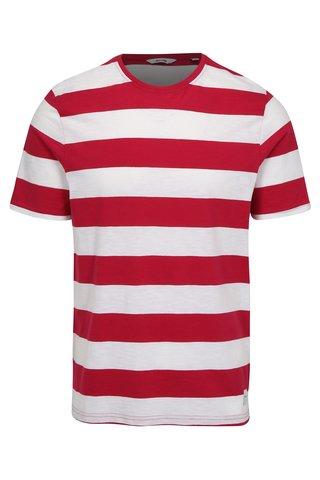 Bílo- růžové pruhované tričko ONLY & SONS Dontell