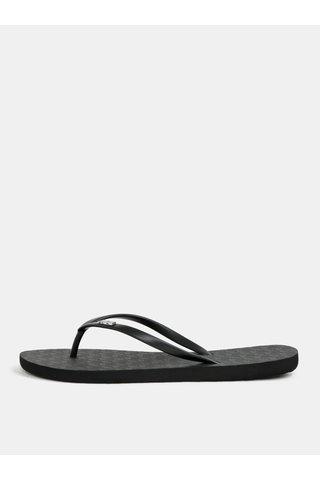 Papuci de dama flip-flop negri Roxy Viva