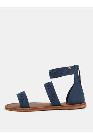 Sandale de dama albastru inchis cu cusaturi decorative Roxy Natalie
