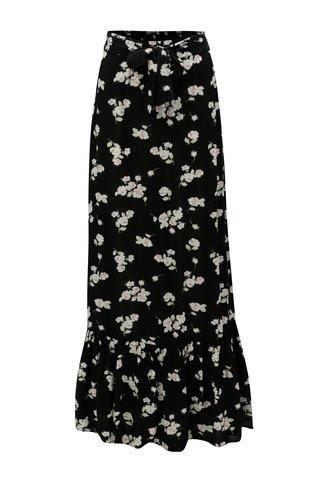 Fusta maxi neagra cu model floral Dorothy Perkins Tall