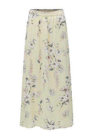 Fusta maxi galben cu model floral Dorothy Perkins Petite