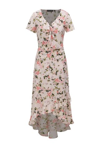 Rochie maxi roz deschis cu model floral Dorothy Perkins