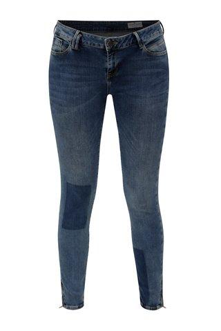 Blugi de dama albastri super skinny crop din denim - Cross Jeans