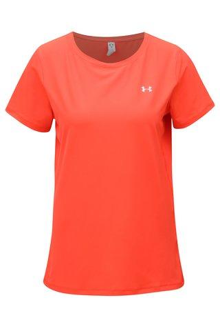 Tricou de dama oranj neon functional Under Armour HG Armour SS