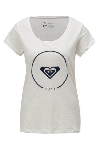 Tricou de dama alb cu print Roxy Bobby