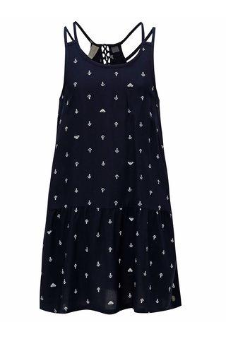Tmavě modré holčičí šaty s potiskem Roxy Moments