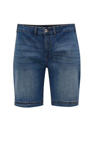 Pantaloni scurti albastri regular fit din denim Zizzi