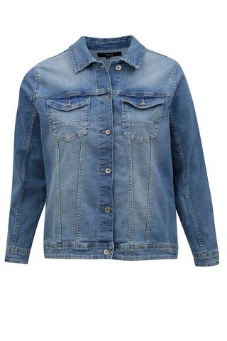 Jacheta albastra din denim Zizzi