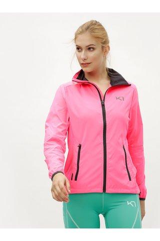 Jacheta roz neon lejera hidrofuga Kari Traa Nora