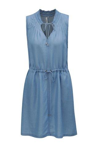 Rochie albastru deschis cu snur in talie - QS by s.Oliver