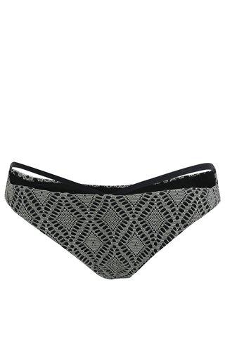 Slip de baie de dama crem-negru cu model Rip Curl