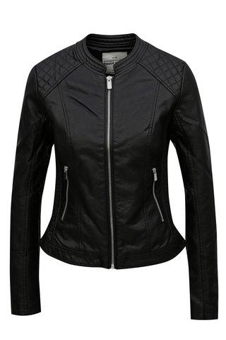 Jacheta neagra din piele sintetica TALLY WEiJL