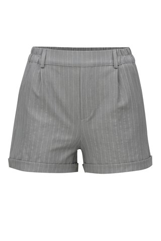 Pantaloni scurti gri deschis in dungi TALLY WEiJL