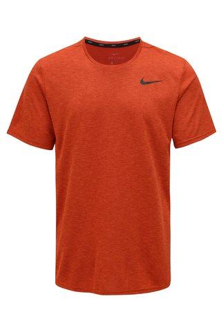 Cihlové pánské funkční tričko s potiskem loga Nike