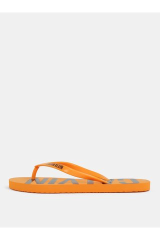 Papuci de dama flip-flop oranj Calvin Klein