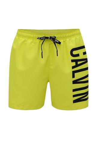 Neonově žluté pánské plavky Calvin Klein