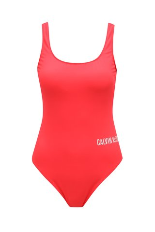 Costum de baie body rosu Calvin Klein
