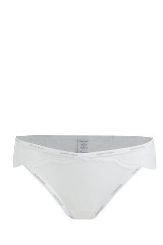 Chiloti albi din dantela Calvin Klein