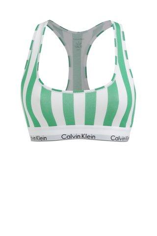 Bustier alb-verde in dungi Calvin Klein