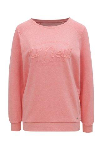 Bluza sport roz de dama cu broderie O'Neill Essentials