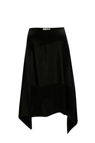 Černá asymetrická hedvábná sukně Alexandra Ghiorghie Omar