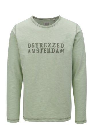 Bluza verde deschis cu broderie Dstrezzed