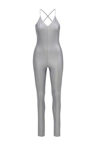 Salopeta lunga de culoare argintie Alexandra Ghiorghie Emeral