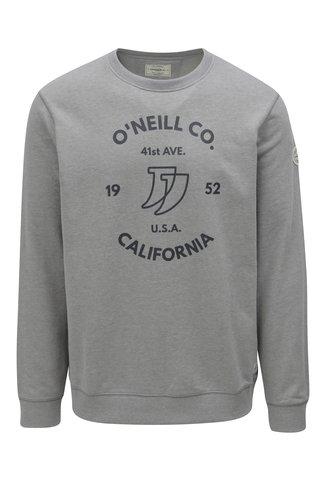 Bluza sport barbateasca gri cu imprimeu O'Neill Boulevard