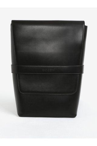 Tmavě hnědý koženkový batoh Bobby Black