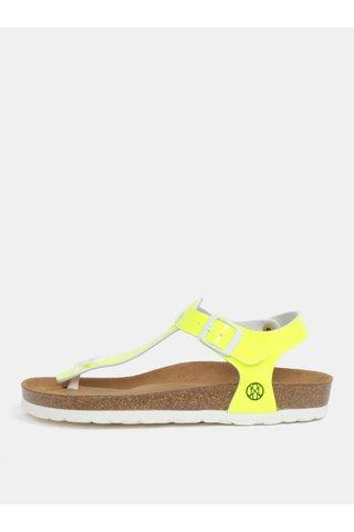 Sandale galben neon pentru femei - OJJU Kairo