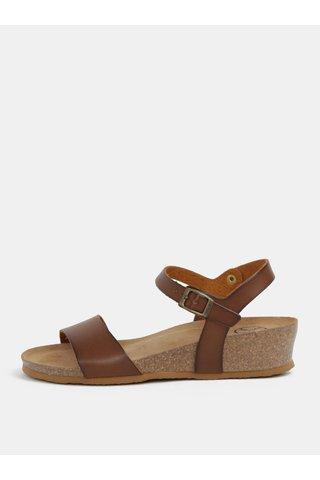 Sandale maro cu platforma wedge - OJJU